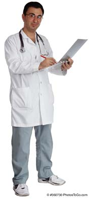 A doctor; Size=180 pixels wide